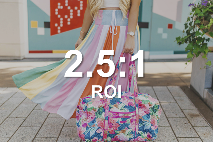 Vera Bradley Influencer Marketing Case Study, 2.5:1 ROI